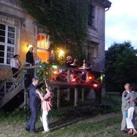 2013 06 22 Hochzeit Tornow Brauttanz im DA mmerlicht-